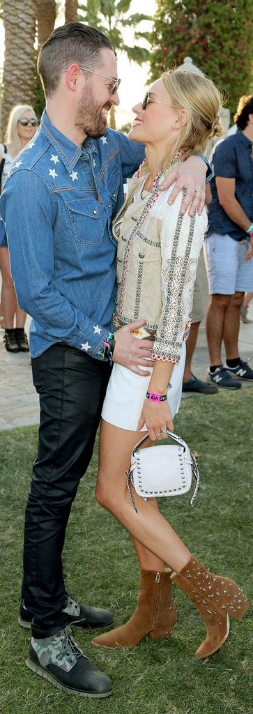 Kate Bosworth and Michael Polish share a romantic — and stylish! — moment at Coachella.
