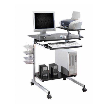 Ergonomic Multifunction Mobile Compact Computer Desk - Espresso