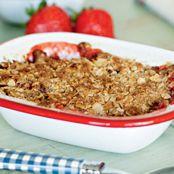 Jamie's Strawberry & Pear Crumble recipe