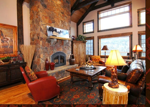 Ski Lodge Living Room Decor