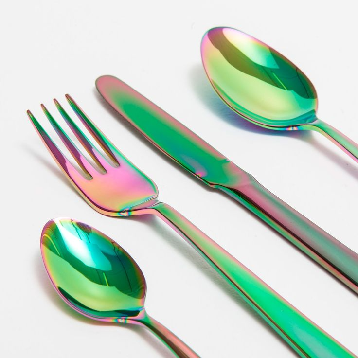 colour effect steel cutlery best tablewares flatware and steel ideas. Black Bedroom Furniture Sets. Home Design Ideas
