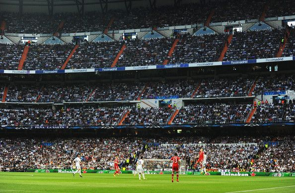 A general view during the UEFA Champions League semi-final first leg match between Real Madrid and FC Bayern Muenchen at the Estadio Santiago Bernabeu on April 23, 2014 in Madrid, Spain.
