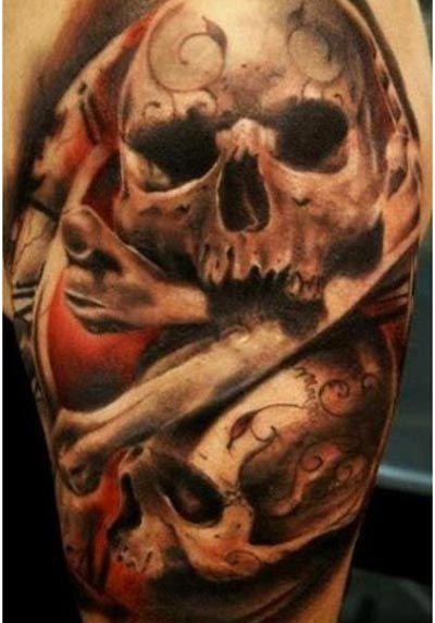Die heißesten Schädel Tattoos - http://tattoosideen.com/2016/05/03/die-heisesten-schadel-tattoos.html