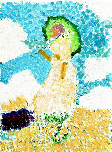 free black line outlines for monet child art - Child Pictures Free