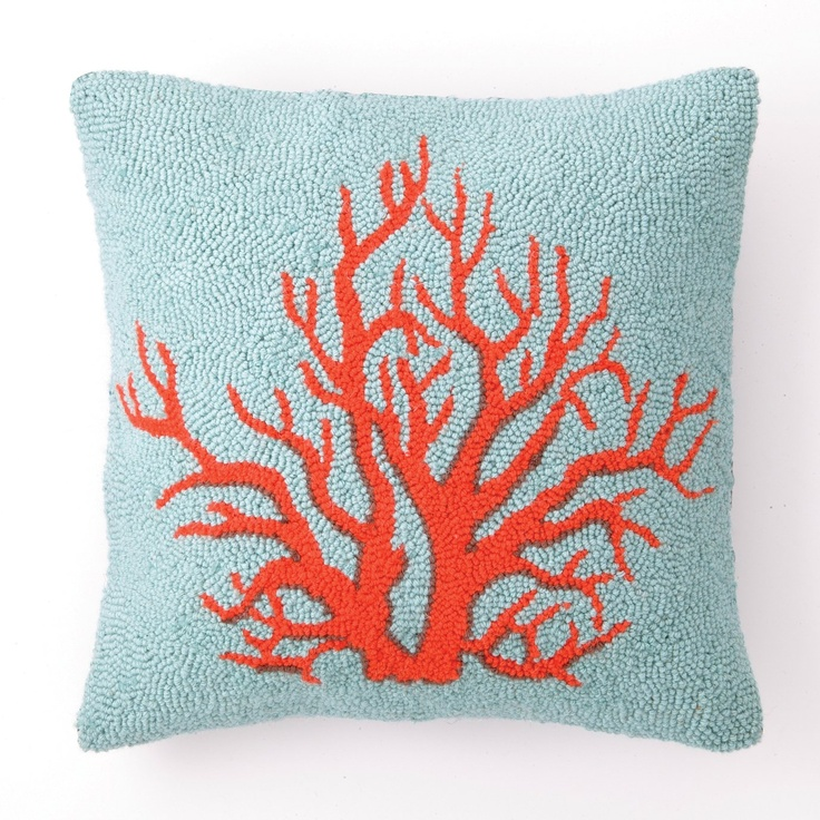 Peking Handicraft Red Coral Decorative Pillow - #ATGStores