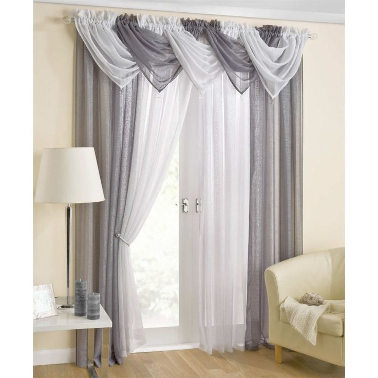 Casablanca Voile Curtain Swag Grey at the fantastic price of sold by Ideal  Textiles. Casablanca Voile Curtain Swag Grey can be found in our Curtain  Swags ...