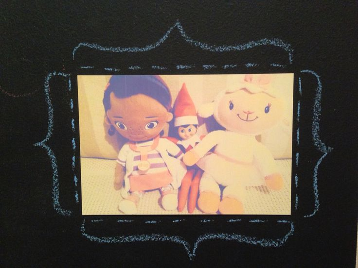 Jingle-Belle, Doc and Lambie's selfie made it onto the family photo wall