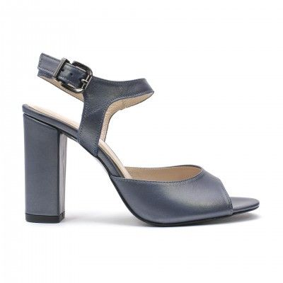 LIVIA pearl blue high heel sandals