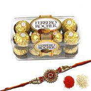 Choose chocolates & rakhi for brothers.....