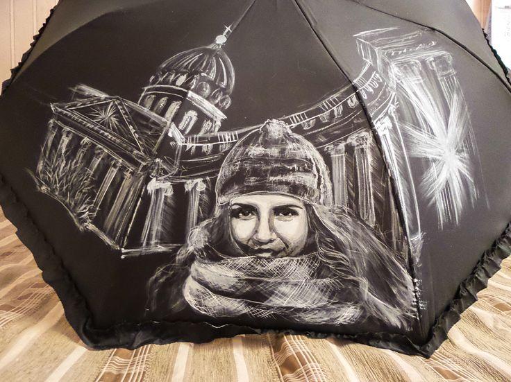 Зонт Признание в любви, Санкт-Петербург купить в Санкт-Петербурге #зонт #зонтик #umbrella #parasol #design #спб #россия #роспись #хендмейд #handmade #рисунок #drawing #draw #style #styling #складной #дизайнерский #заказ #крутой #черный #дождь #прикольный #подарок
