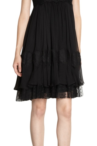 Lace Sleeveless Crewneck Dress