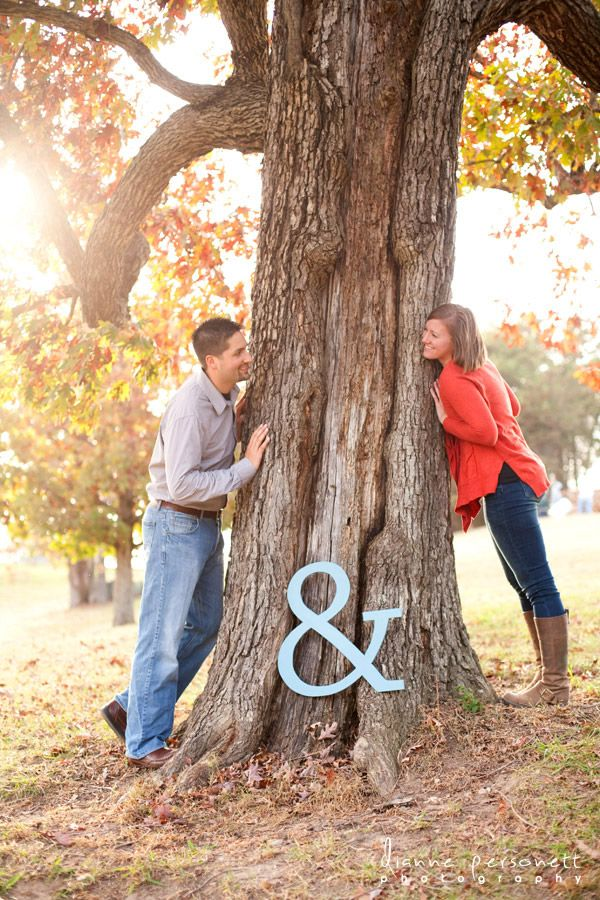 save the date photo ideas. Would be cute with a save the date sign on the tree. Possibly with initials carved into tree?