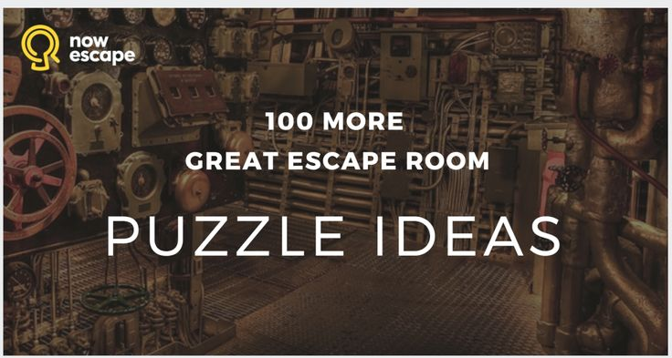 100 Escape Room Puzzle Ideas