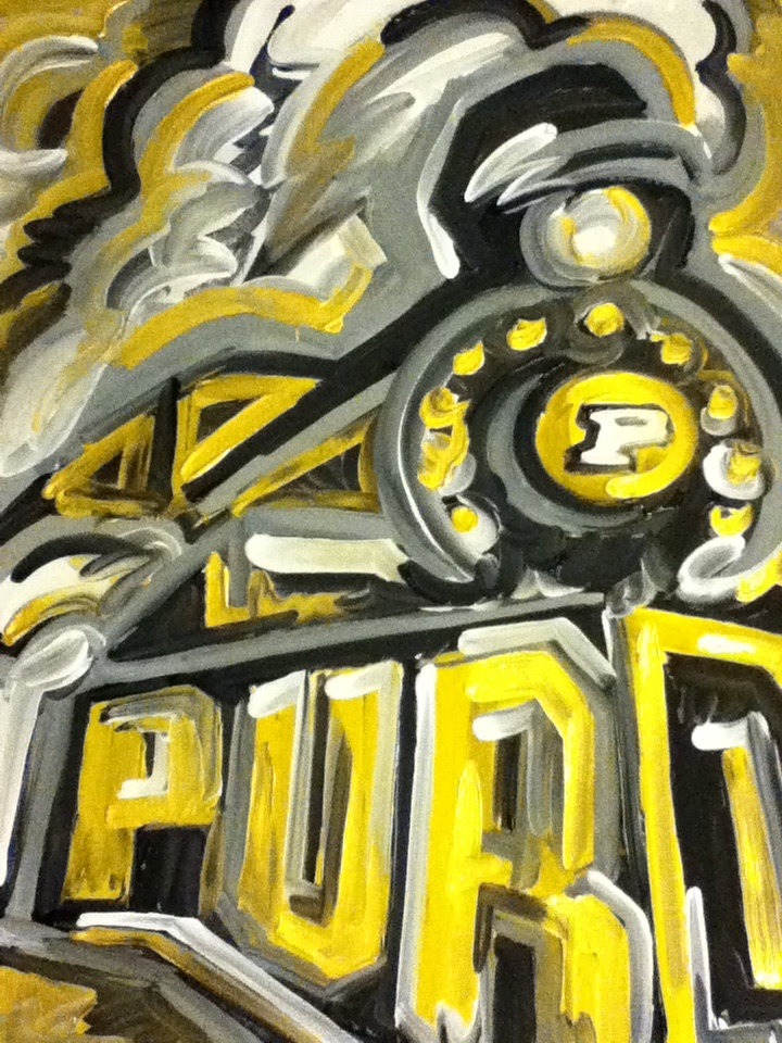 Purdue Train Painting