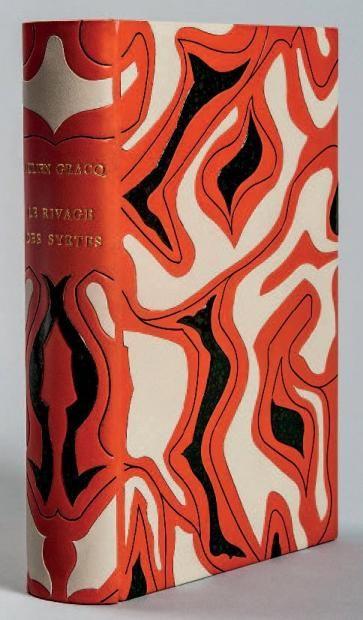 GRACQ Julien  Le Rivage des Syrtes. Paris, José Corti, 1951; in-12, box corail, les plats et le dos décorés d'une composition abstraite form...
