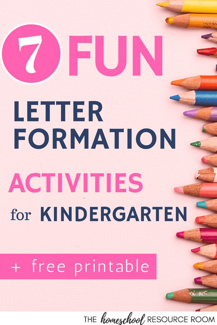 Handwriting practice can be boring and downright torture for some kids. Up your handwriting game with 7 engaging and FUN letter formation activities! #homeschooling #homeschool #handwriting #kindergarten