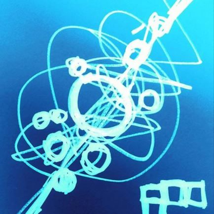 "#draweveryday #everyday "" Summer Blue "" #pen on #paper #abstract #energy #lines #art #Exeter #Devon #digitally #inverted and #colour #color #traditional #digital #tradigital #art #cool #wash #refresh #fresh #Atlantic #pacific #ocean #surf #subsea"