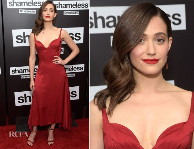Emmy Rossum In Paule Ka Showtime S Shamelesss 100 Episode Celebration Red Carpet Fashion Awards