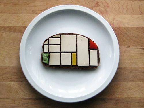 #PietMondrian Sandwich - #BrittanyPowell's #SandwichArt project