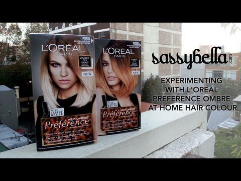 DIY at home ombre made easy with L'Oreal Paris Preference Wild Ombres. Starring Kimmi from @Kimmi @ The Plastic Diaries. #beauty #hair #dye #ombre http://www.sassybella.com/2013/06/diy-home-balayage-loreal-wild-ombre/