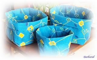Textil boxes.