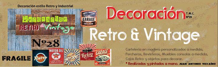 Decoración Retro & Vintage, realizo letreros Retro en madera personalizados para decorar estancias del hogar o negocio. www.actiweb.es/tumuebleconsolajvg