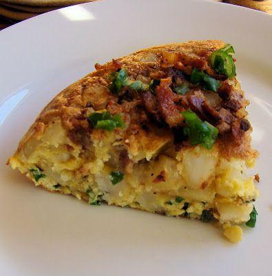 Savoir Faire: Frittata de papas rostizadas, tocineta, queso y ce...