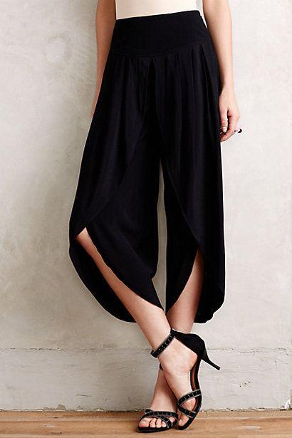Cropped Tulip Trousers....... estos estarían perfectos para bailar tango!