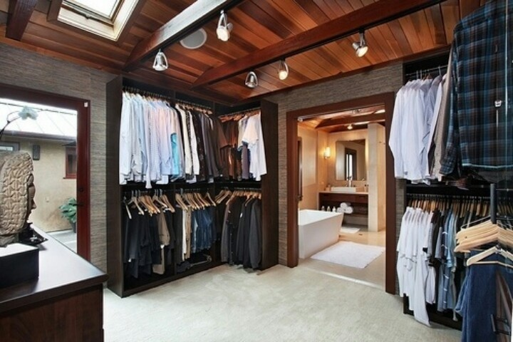Men 39 s walk in closet green for a home like this - Mens walk in closet ...