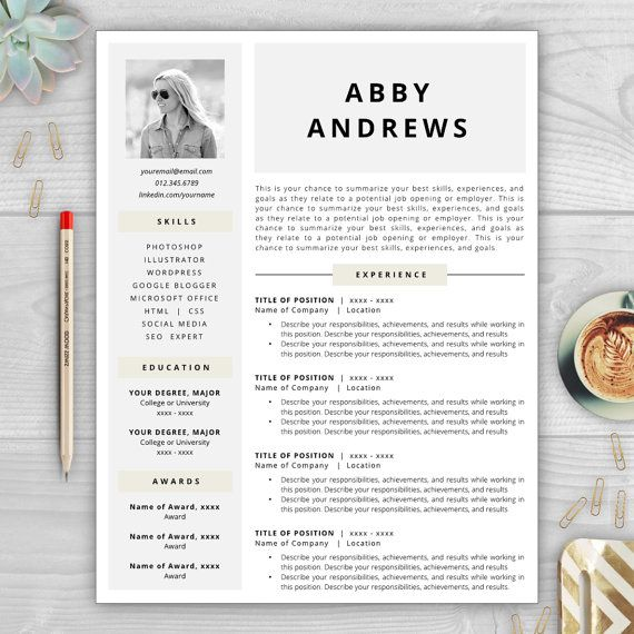37 best Resume Templates images on Pinterest Cover letter - awesome resumes templates