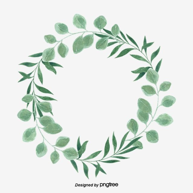 Wreath Watercolor Painting Flower Clip Art Hand Painted Plants