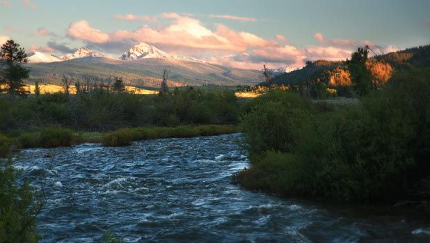 One of the most famous blue ribbon trout streams in the world:  Rock Creek near Philipsburg, Montana