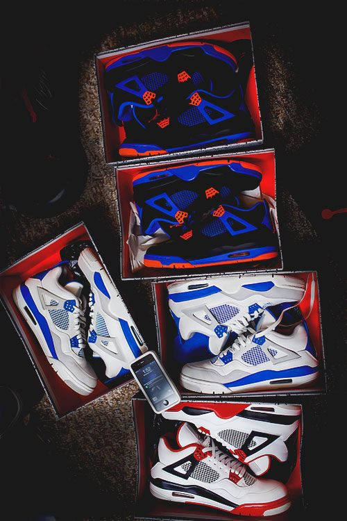 """ Cav 4s x Fire Red 4s x Military Blue 4s by Kurtis H.Dash """