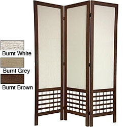 Overstock Com The Open Lattice Work At The Bottom Of This Room Divider