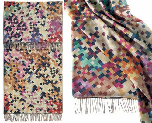 From the Italian company Missoni Home comes the Lisbona digitally-inspired throw. Adore the coloured, pixelation look on this.