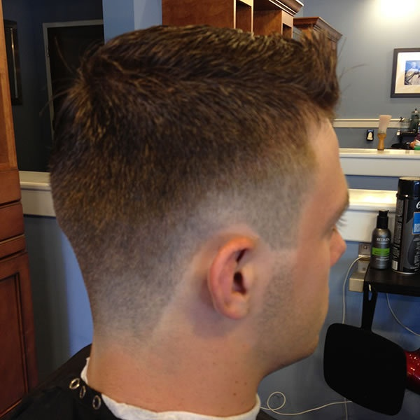 Fade pomp haircut 1# sides n back  (4)