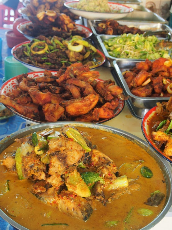 Traditional Local Malay cuisine on a Buffet spread
