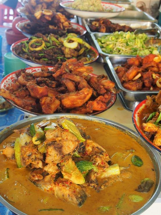 Traditional Local Malay cuisine on a Buffet spread