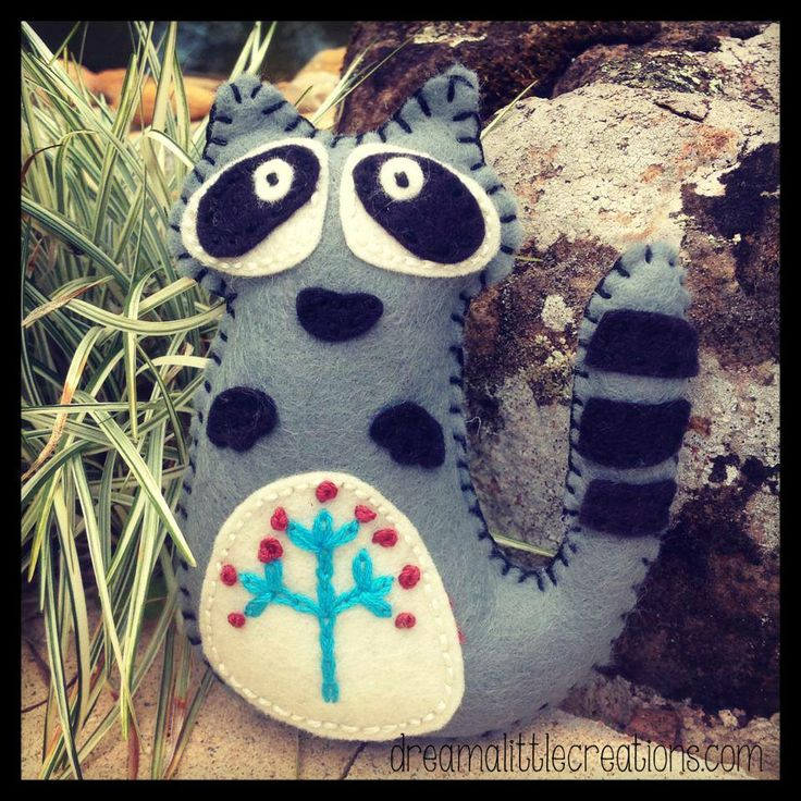 Little raccoon feltie, Enchanted Forest Market Night opens at 9pm, on Tuesday 6th May, 2014