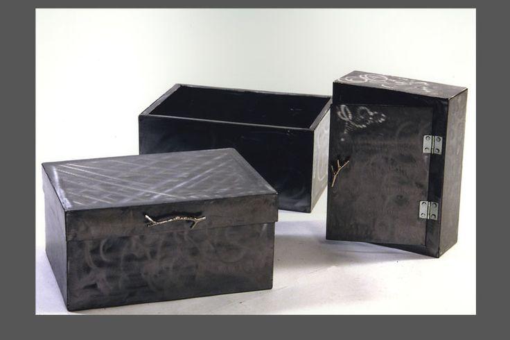 scatole in ferro spazzolato