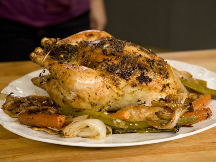 Roasted Chicken with Lemon, Garlic, and Thyme Recipe : Food Network - FoodNetwork.com