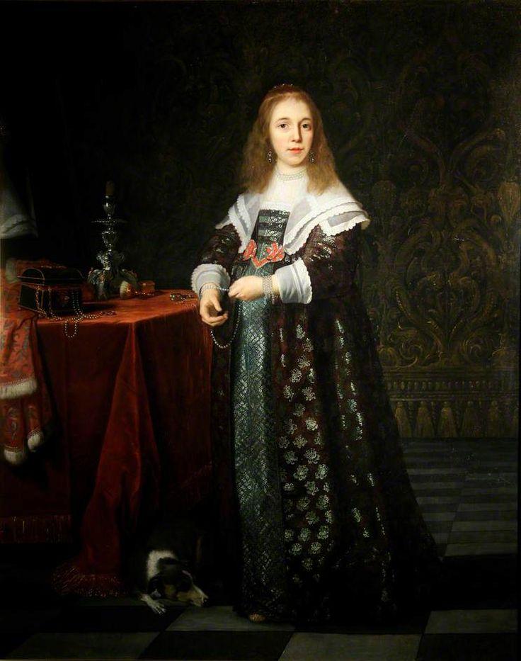 Bartholomeus van der Helst - Portret van een jonge dame (1645)