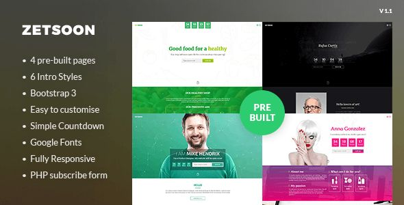 ZetSoon - Multipurpose Coming Soon Template