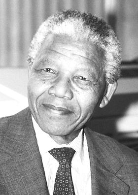 """Mandela was awarded the 1993 Nobel Peace Prize together with Frederik Willem de Klerk """"for their work for the peaceful termination of the apartheid regime, and for laying the foundations for a new democratic South Africa""""."""