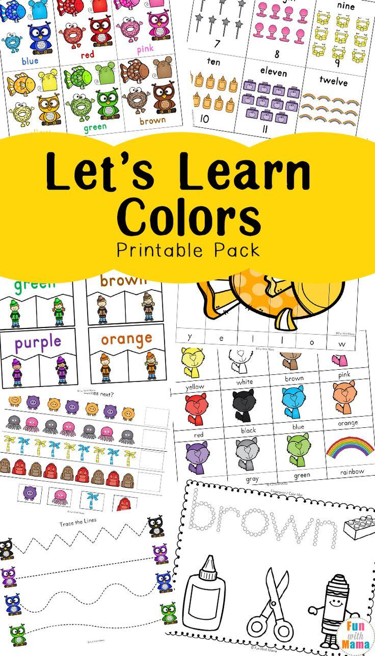 Learn color names worksheets