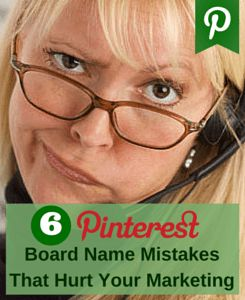 The board names may help or hurt your marketing. The more mistakes you make in naming your #Pinterest boards, the fewer visitors are converted into followers.
