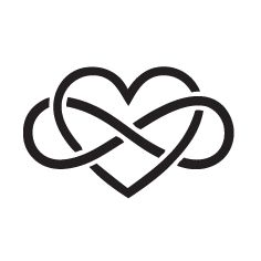 Heart+Infinity+Symbol+Tattoo | heart with infinity symbol tattoo add pay prints in the infinity symbol                                                                                                                                                                                 More