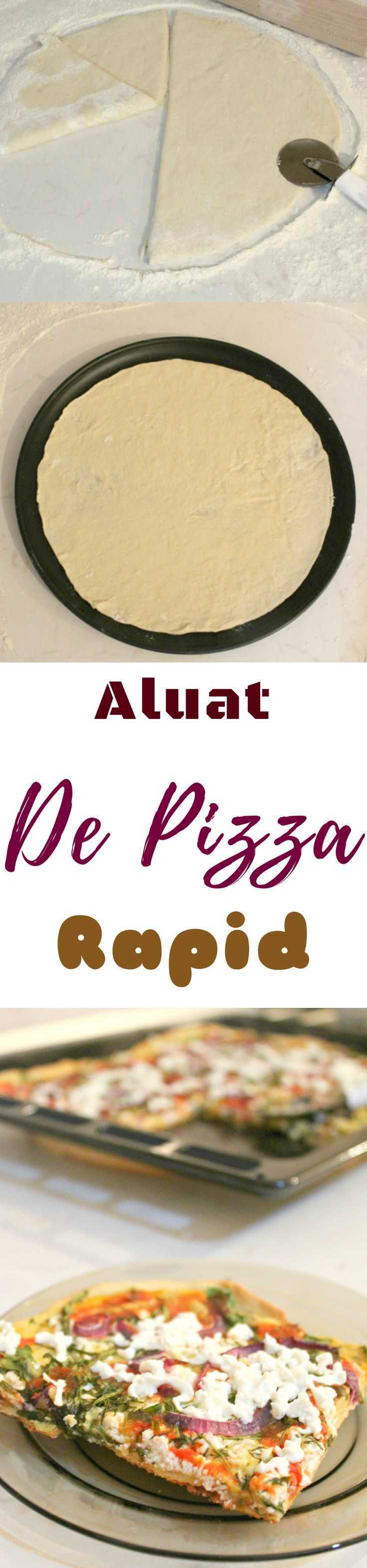 ALUAT DE PIZZA RAPID -  Aceasta reteta de aluat de pizza creeaza un blat de pizza subtire si crocant si nu are nevoie de mult timp pentrupreparare, e gata in doar cateva minute!
