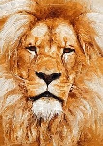 Lion Giclee Art Print: Lion Gicle, Art Prints, Canvas, Animal Kingdom Africa