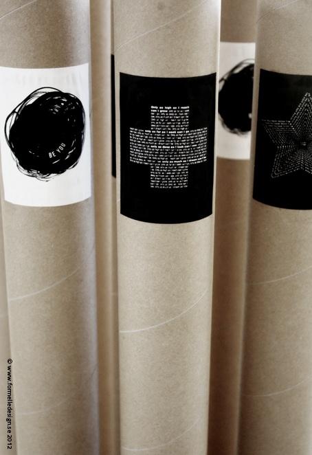 >a nice way to package prints.   Photo: Johanna Eklöf/Formelle Design  www.formelledesign.se  www.formelledesign.com